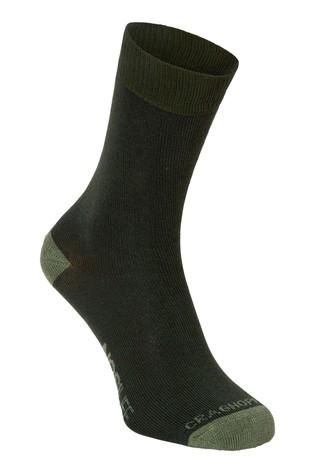 Craghoppers Green Nlife Socks Twin Pack
