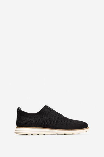 Cole Haan Black Originalgrand Stitchlite Wingtip Oxford Shoes