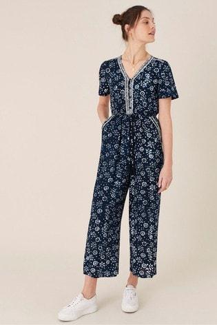 Monsoon Blue Artisan Studio Batik Print Jumpsuit