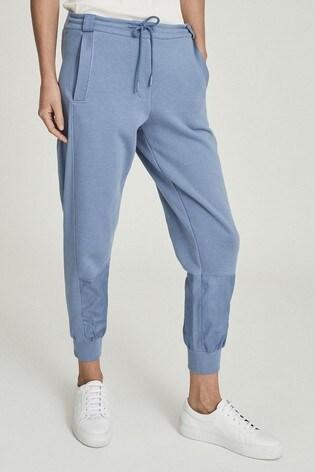 Reiss Blue Shannon Panelled Loungewear Joggers