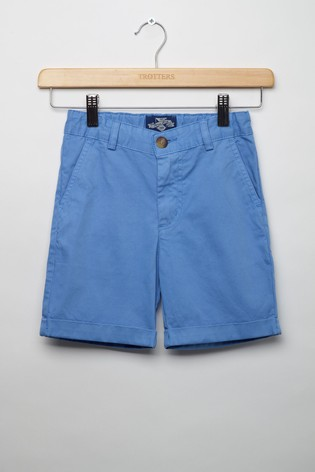 Trotters London Blue Charlie Chino Shorts