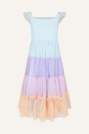 Monsoon Purple Disco Tiered Maxi Dress