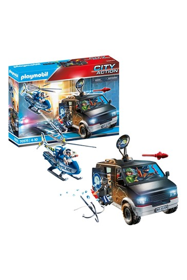Playmobil 70575 Police Helicopter Van Pursuit
