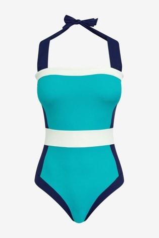 Boden Blue Santorini Swimsuit
