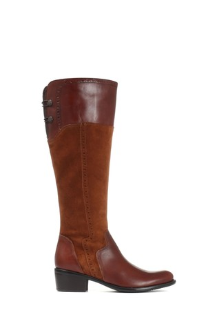 Jones Bootmaker Tan Ladies Leather Knee High Boots