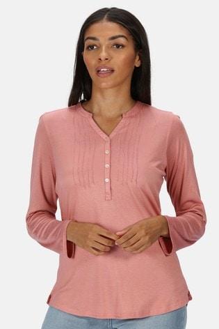 Regatta Pink Fflur Long Sleeve T-Shirt
