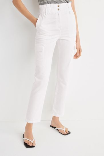 White Twill Trousers
