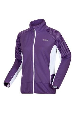 Regatta Purple Women's Yare Iii Full Zip Softshell Jacket