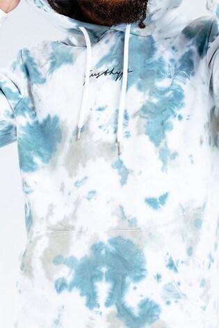 Hype. Khaki Tie Dye Scribble Logo Men's Hoodie