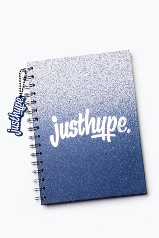 Hype. Blue Speckle A5 Notebook With Rubber Charm
