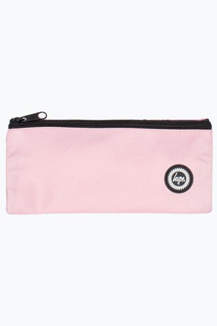 Hype. Baby Pink Crest Flat Pencil Case