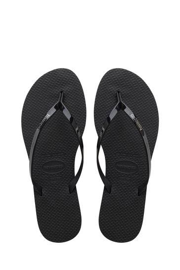 Havaianas Black You Metallic Flip Flops