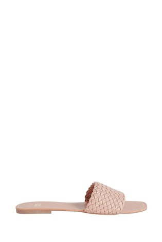 F&F Pink Woven Sliders