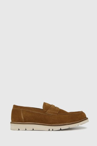 Schuh Tan Parker Saddle Loafers