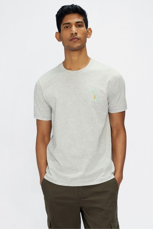 Ted Baker Madras Palm Tree Graphic T-Shirt