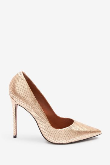 Gold Signature Leather Court Shoes