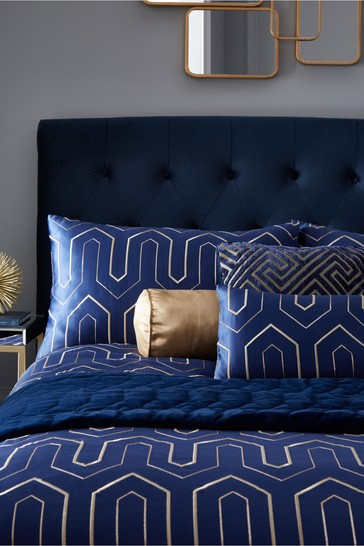 Tess Daly Phoebe Midnight Duvet Cover and Pillowcase Set