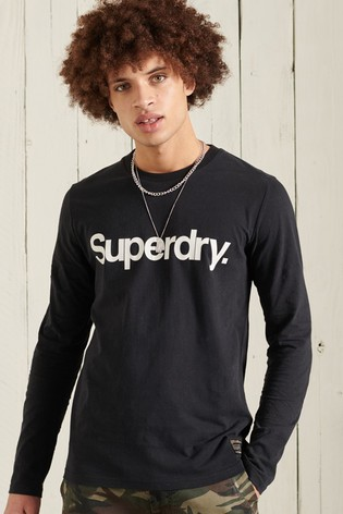 Superdry Military Long Sleeved Graphic Top