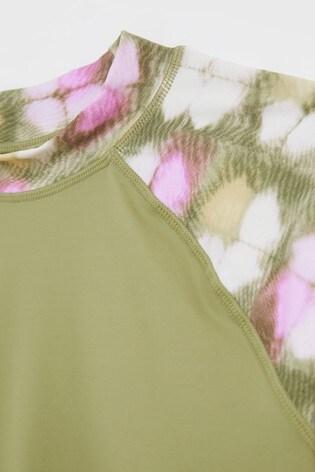 White Stuff Green Tie Dye Rash Vest