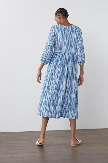 Blue Tier Midi Dress