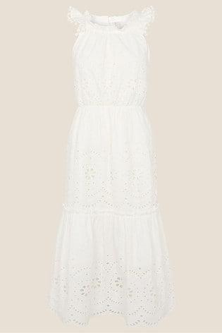 Monsoon Organic Cotton Schiffli Dress