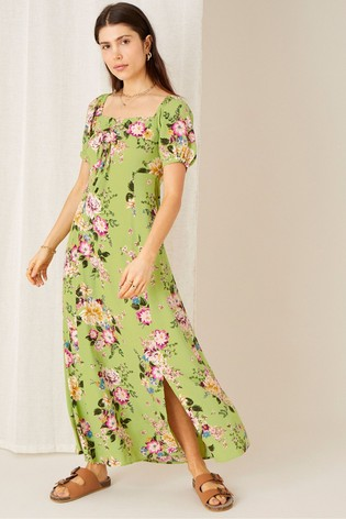 Monsoon Sustainable Viscose Blend Floral Sweetheart Dress