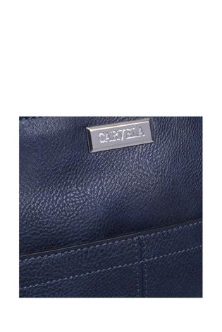 Carvela Blue Imogen Zip Top Cross Body Bag