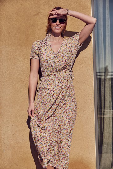 FatFace Rochelle Gathered Floral Dress