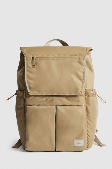 REISS Lennox Large Nylon Backpack