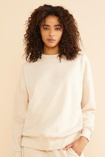 Albaray Cream Crew Neck Sweatshirt