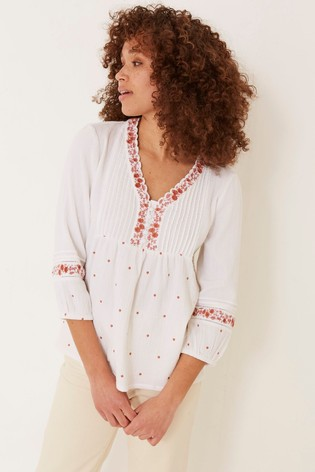 FatFace Jessica Embroidered Blouse