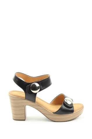 Heavenly Feet Sadie2 Ladies Black Heeled Sandals