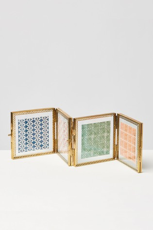 Oliver Bonas Gold And Glass Lace Multi Frame