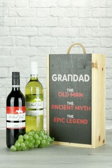 Grandad The Legend Australian Wine Twin Gift by Le Bon Vin