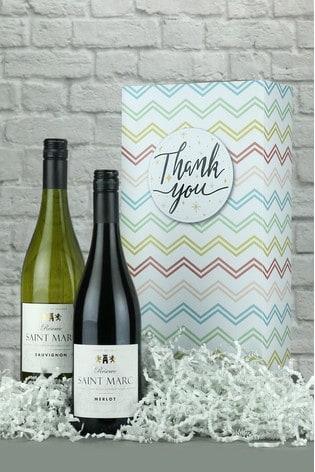 Thank You French Wine Gift Stripe by Le Bon Vin