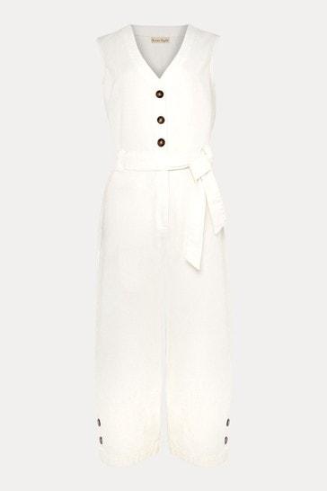 Phase Eight White Shemi Denim Jumpsuit