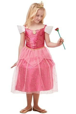 Rubies Glitter And Sparkle Disney Princess Aurora Fancy Dress Costume