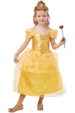 Rubies Glitter And Sparkle Disney Princess Belle Fancy Dress Costume