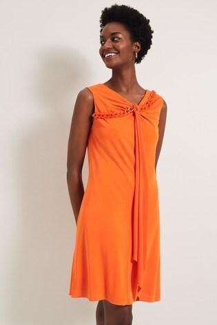 Damsel In A Dress Orange Karlen Chain Detail Dress