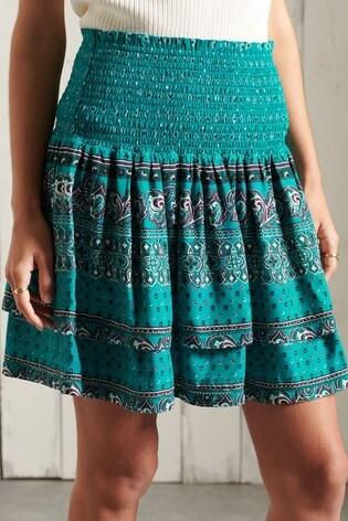 Superdry Ameera Mini Smocked Skirt