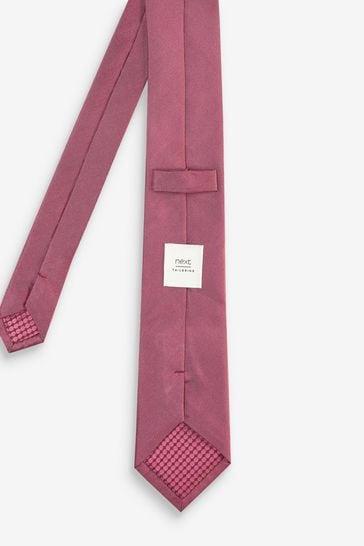 Rose Regular Silk Tie And Pocket Square Set
