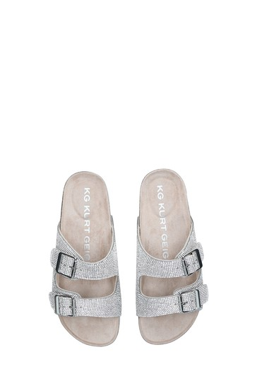 KG Kurt Geiger Chrome Ruse Gem Sandals