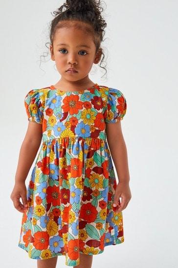 Little Bird Organic Cotton Floral Smock Dress