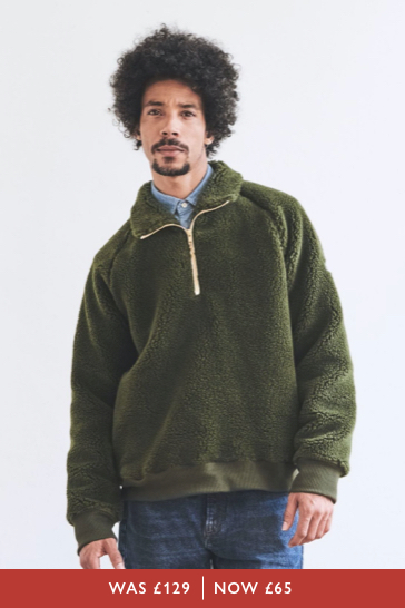 Ambleshire Wool Blend Borg 1/4 Zip