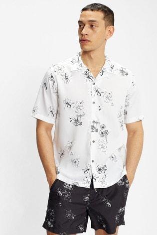 Ted Baker Runslo Short Sleeve Squiggle Print Shirt