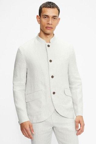 Ted Baker Radioj Nerhu Collar Herringbone Workwear Blazer