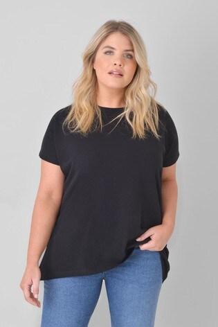 Live Unlimited Curve Black Cotton/Linen Bend T-Shirt