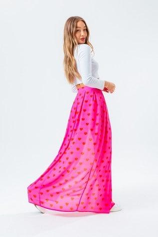 Hype. Pink Heart Skirt