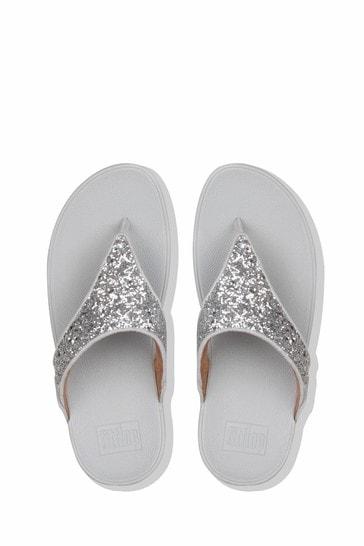 FitFlop Lulu Glitter Toe Post Sandals