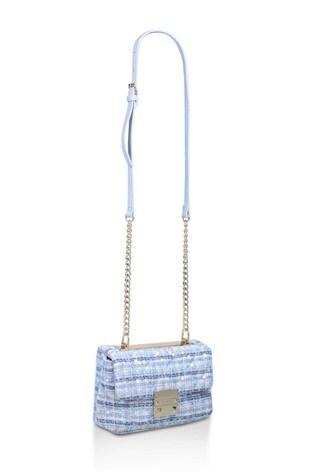 Carvela Blue Mini Soft Bailey Bag